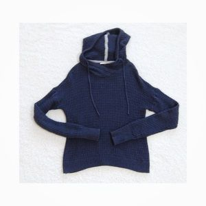 Victoria's Secret Navy Blue Cable Knit Hood Sweate